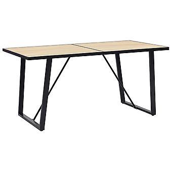 Dining Table Oak 160x80x75 Cm Mdf