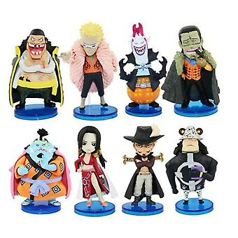 8pcs Figure Set One Piece Toy Doll Anime Collection