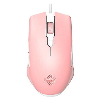 Backlit Mice Programming Wired Gaming Mouse(pink)