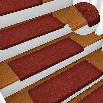 vidaXL階段マット 15個の針のプンド65x25 cm赤