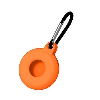 2 Stk for airtags silikon beskyttende tilfelle anti tapt nøkkelring oransje