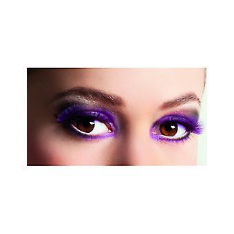 Faux cils courts violet adulte