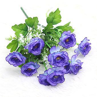 5pcs artificial peonía flor seca flor falsa regalo de flores para las mujeres