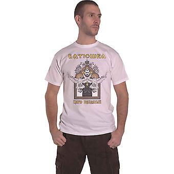 Batushka T-paita Carju Niebiesnyj Band Logo uusi Virallinen Mens Valkoinen