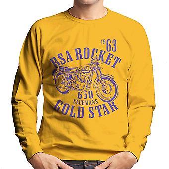 BSA Rocket 650 Clubmans Gold Star Men's Sweatshirt
