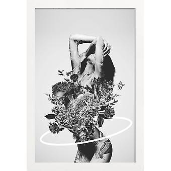 JUNIQE Print - Be Slowly - Erotische poster in grijs en zwart