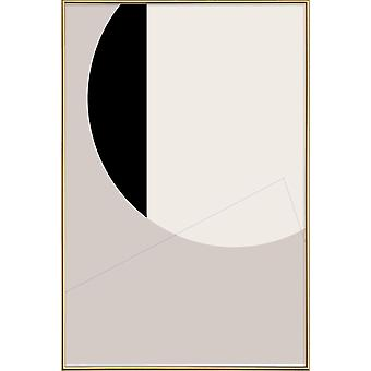 JUNIQE Print - Black Side - Abstract & Geometric Poster in Grey & Black