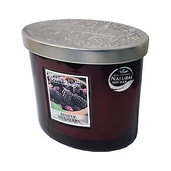 Heart & Home Ellipse Twin Wick Soy Wax Candle - Simply Mulberry 00276260214