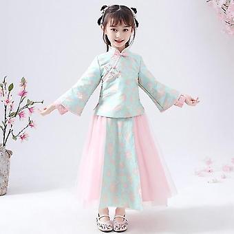 Vestido de festa de flor da menina