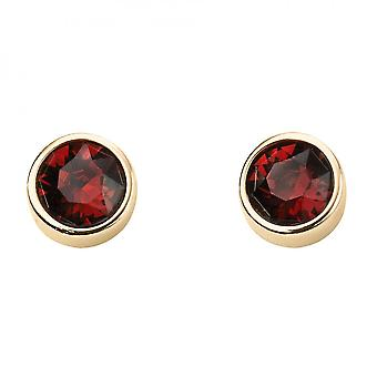 Beginnings January Yellow Gold Plated Birthstone Earrings With Swarovski Crystal E1537