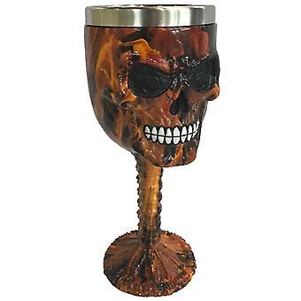 Dekoracyjny brązowy marmur efekt Skull Goblet