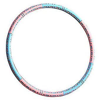 Copoz 6 noduri reglabile Greutate Hula Hoops pentru adulti (Albastru Roz)