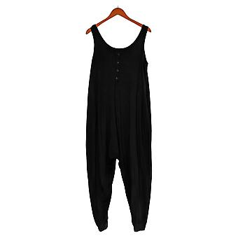 AnyBody Cozy Knit Romper With Button Detail A381282