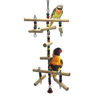 Papegaai vogel parkiet klimmen ladder speelgoed houten schommel