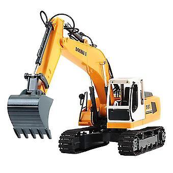 RC掘削機1:16子供の大人のための掘削機DIY合金工具効果効果モデル|RCトラック(カーキ)