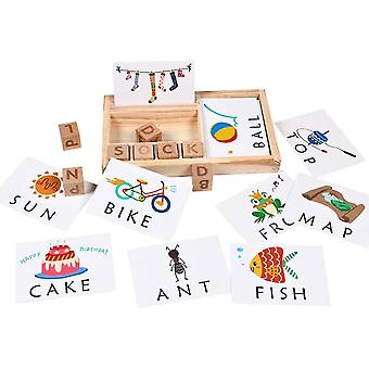 Matching Letter Game For Kids, Puzzle Preschool Spelling And Matching Letter Cards Toy With 30pcs