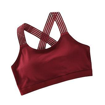 اليوغا حمالة الصدر shockproof تنفس المرأة الرياضة حمالة الصدر الرياضية الرياضية الصالة الرياضية سترة اليوغا الصالة الرياضية