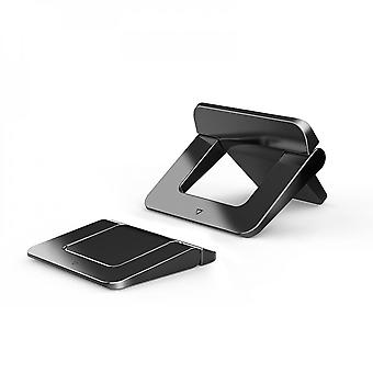 Srotek Laptop Stand For Macbook Pro Universal Desktop Laptop Holder Mini Portable Cooling Pad Notebook Stand For Macbook Air,black