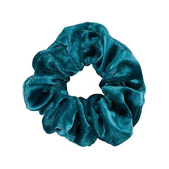 3x Haarbänder/Scrunchies in Samt (Türkis)