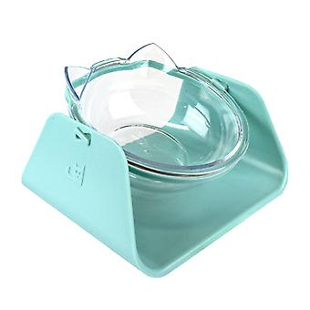 Food bowl for cat, 15° angle - Blue