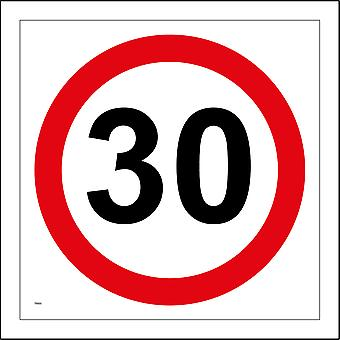 TR005 30 Miles Per Hour Sign with Circle