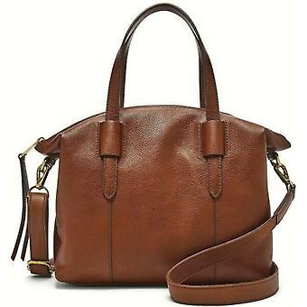 Fossil Skylar Satchel Crossbody Brown Leather Handbag SHB2657213