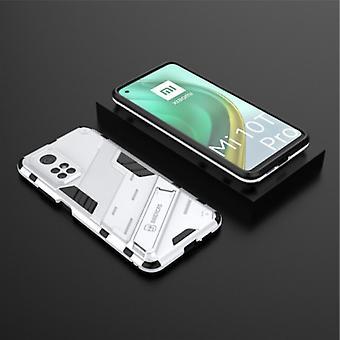 BIBERCAS Xiaomi Mi 10T Pro Case with Kickstand - Shockproof Armor Case Cover TPU White