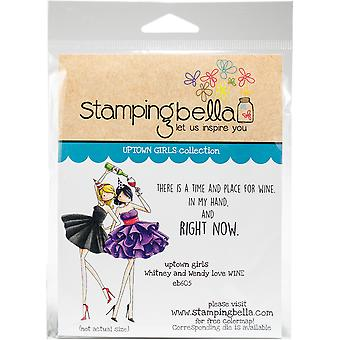 Stamping Bella Cling Stamps - Uptown Girls Whitney & Wendy Love Wine
