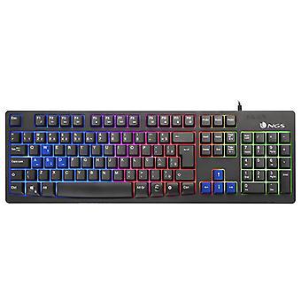 Clavier de jeu NGS GKX-300 PLUG-AMP;PLAY USB LED Multicolor Black