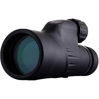 Monoculaire 12X50 haute puissance, lumineux et clair, mise au point à une seule main, imperméable à l'eau, antibrouillard pour l'observation des oiseaux ou l'observation de la faune, (noir)