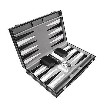 Tragbare Puzzle Chess Classic Brettspiel Set Falten multifunktionale Backgammon Spiel| Strategiespiele