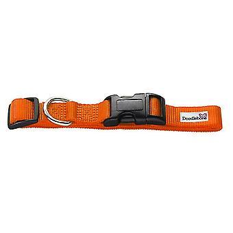 Pet leashes bold nylon collar orange small 20mm x 30-50cm
