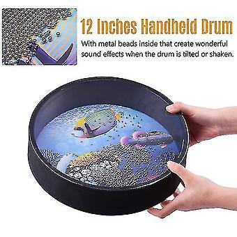 Drum kits 16 inch ocean drum wooden handheld sea wave drum percussion instrument gentle sea sound musical toy