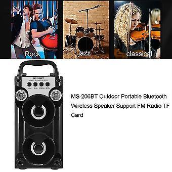 Antennas ms-206bt outdoor portable bluetooth wireless speaker support fm radio tf card