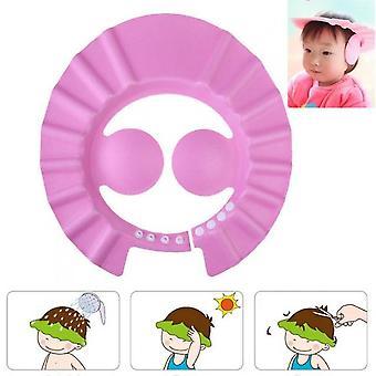 Capsules de douche de bébé réglables Enfant Enfants Imperméable Shampooing Chapeau Garçons Filles Laver les cheveux Bain Bouclier Oreille