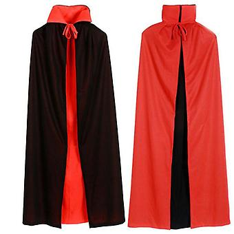 Halloween Cloak, Unisex Velvet Hooded Cape, Halloween Costume For Adult And Kids