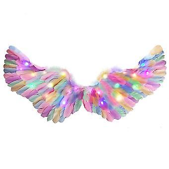 Rainbow Feather Angel Wings Multicolour Fancy Dress Accessory