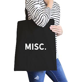 Misc. Black Canvas Bag Simple Book Bags For College Students