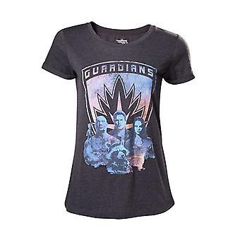 Guardiani della galassia 2 Guardiani ragazze camicia screziato taglia S grigio scuro