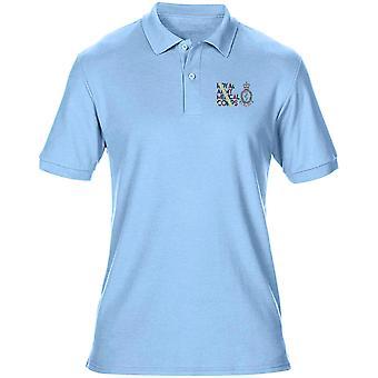 Exército corpo médico RAMC Regimental cores bordado logotipo - Mens oficial Polo camisa