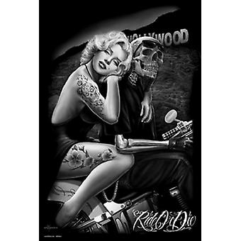 Marilyn Monroe Hollywood Tattoo Poster Poster Print