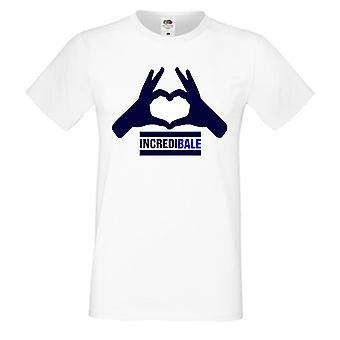 T-shirt de Gareth Bale Incredibale (blanc) - avec un nombre