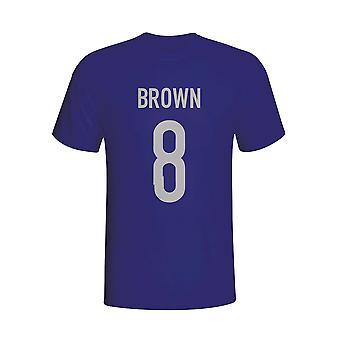Tricou Scott Brown Scotland Hero (bleumarin)-copii