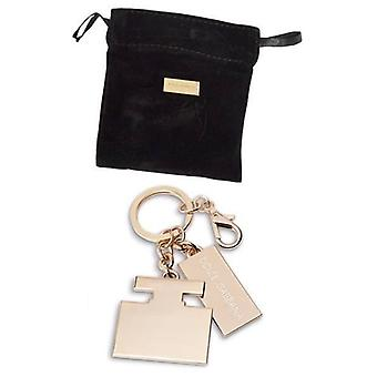 Dolce & Gabbana D&G The One Gold Keyring And Velvet Pouch