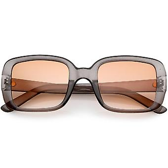 Bold Retro Thick Square Sunglasses With Flat Lens 53mm