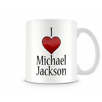 I Love Michael Jackson Printed Mug