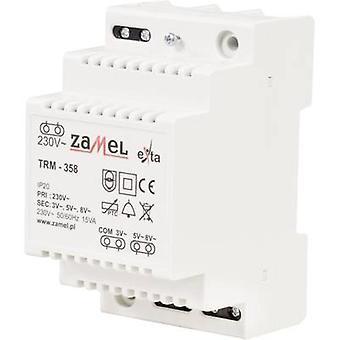 Zamel TRM-358 Bell transformer 3 V AC, 5 V AC, 8 V AC 5 A