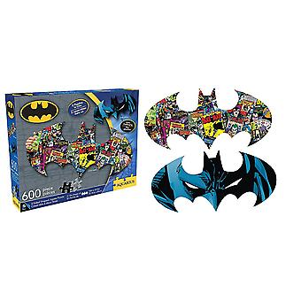 Batman Shaped 600 Piece Double Sided Jigsaw Puzzle 810Mm X 280Mm