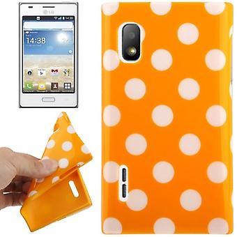 Beskyttende sag TPU point til tilfældet for mobil LG Optimus L5 / E610