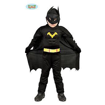 Guirca morcego homem traje de super herói para crianças carnaval Carnaval heroico cavaleiro negro
